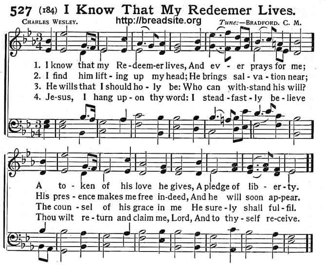 I Know That My Redeemer Livesg